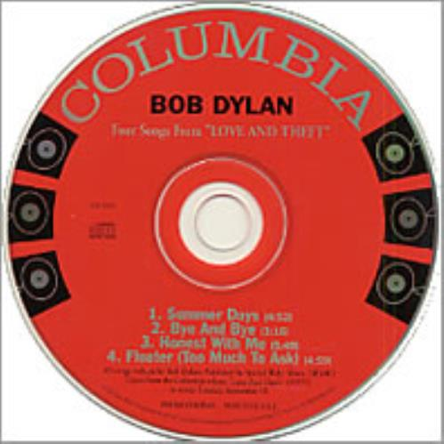"""Bob Dylan Four Songs From Love And Theft CD single (CD5 / 5"""") US DYLC5FO197981"""