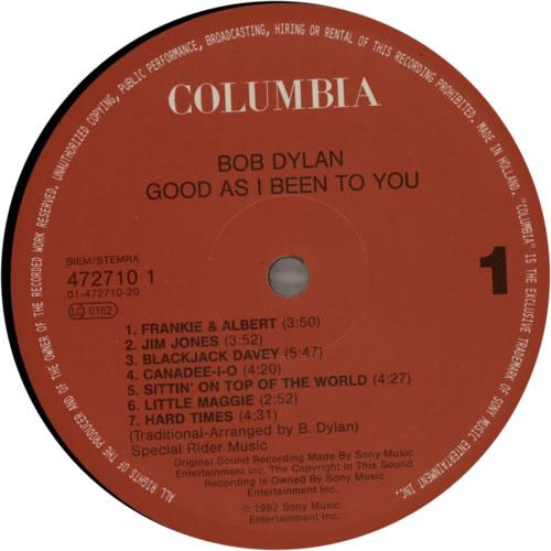 Bob Dylan Good As I Been To You vinyl LP album (LP record) Dutch DYLLPGO622845