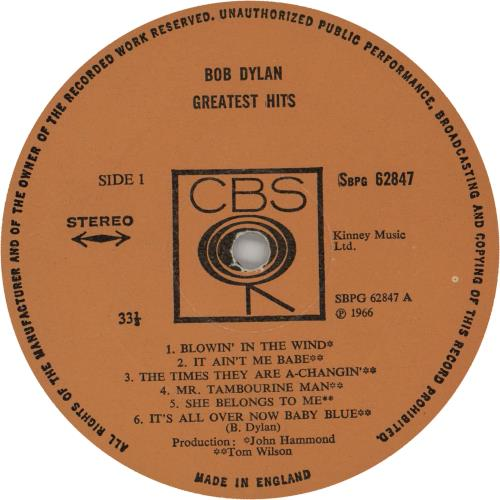 Bob Dylan Greatest Hits - matte p/s vinyl LP album (LP record) UK DYLLPGR65615