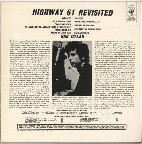 Bob Dylan Highway 61 Revisited - plain orange vinyl LP album (LP record) UK DYLLPHI65590