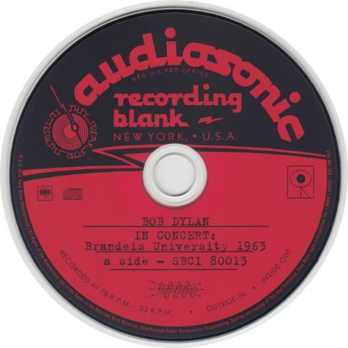 Bob Dylan In Concert: Brandeis University 1963 CD album (CDLP) Japanese DYLCDIN534540