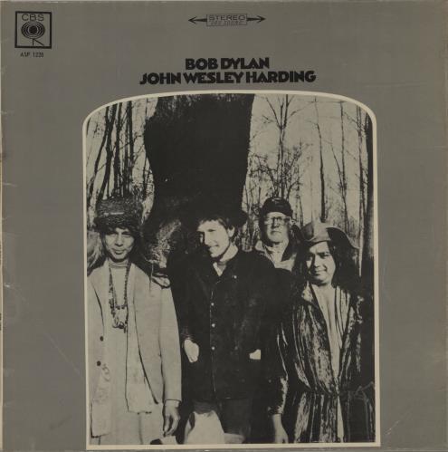 Bob Dylan John Wesley Harding vinyl LP album (LP record) South African DYLLPJO629443