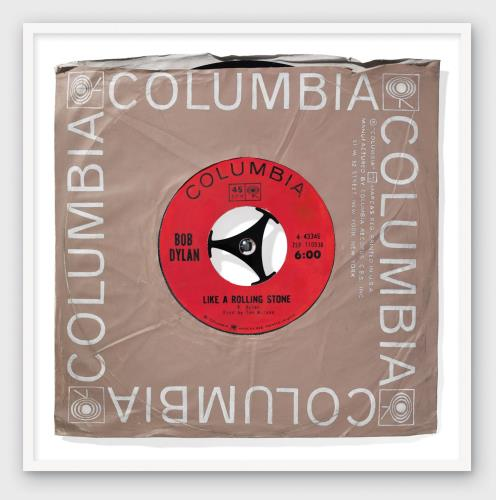 Bob Dylan Like A Rolling Stone - SuperSizeArt Numbered Print artwork UK DYLARLI731104