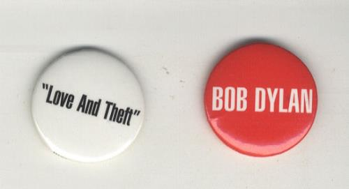 Bob Dylan Love And Theft badge US DYLBGLO442963
