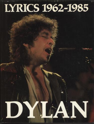 Bob Dylan Lyrics 1962-1985 book UK DYLBKLY696018