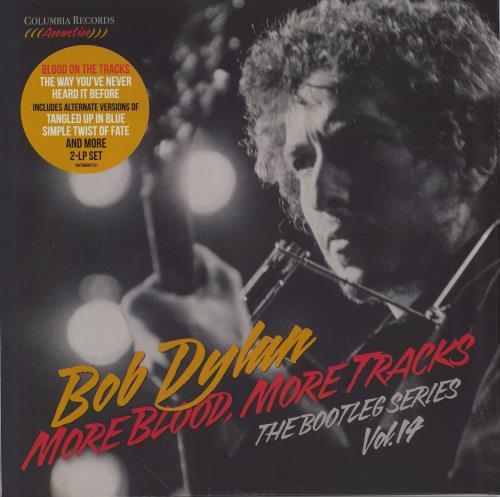 Bob Dylan More Blood, More Tracks - Hype-Stickered Shrink 2-LP vinyl record set (Double Album) UK DYL2LMO775434