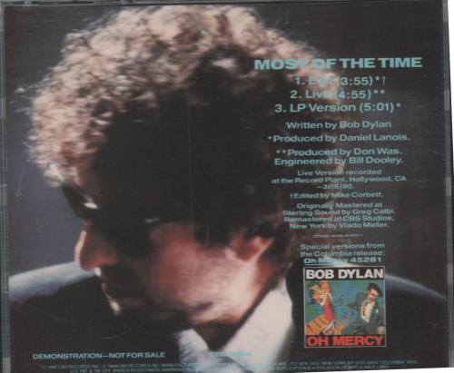 Bob Dylan Most Of The Time US Promo CD single (CD5 / 5