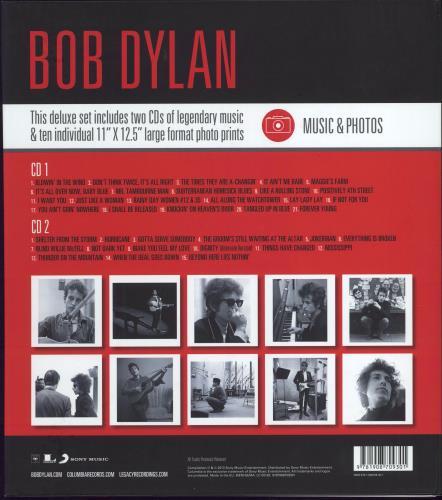 Bob Dylan Music & Photos - 2-CD + Photo Set 2 CD album set (Double CD) UK DYL2CMU775414