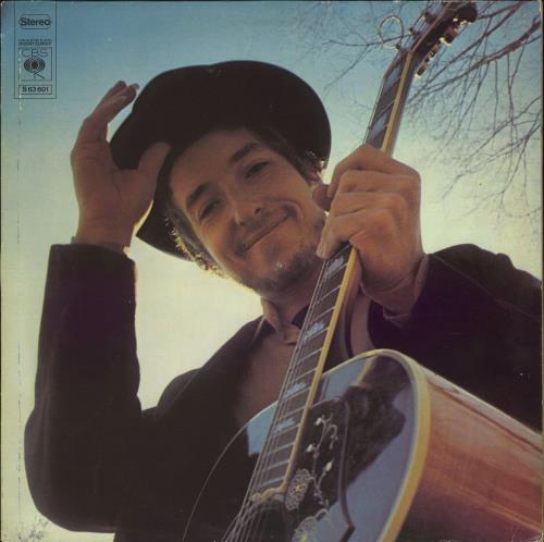 Bob Dylan Nashville Skyline - Graduated + Gold promo stamped vinyl LP album (LP record) Dutch DYLLPNA774453