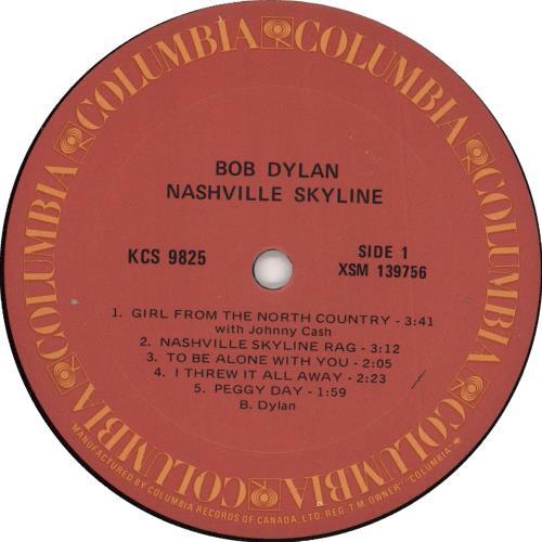 Bob Dylan Nashville Skyline - stickered shrink vinyl LP album (LP record) Canadian DYLLPNA392319