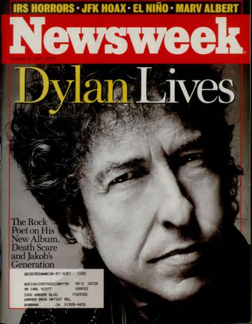 Bob Dylan Newsweek magazine US DYLMANE518831