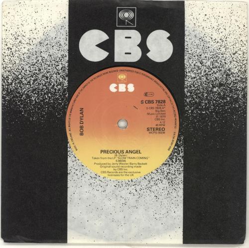 "Bob Dylan Precious Angel 7"" vinyl single (7 inch record) UK DYL07PR691838"