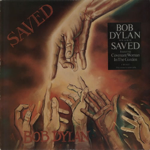 Bob Dylan Saved - Gold promo stamp vinyl LP album (LP record) UK DYLLPSA210578