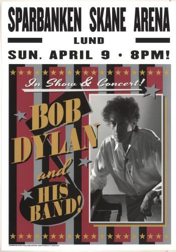 Bob Dylan Sparbanken Spane Arena 2017 Lithograph - Pink, Black & Silver poster UK DYLPOSP722912
