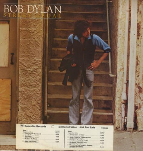 Bob Dylan Street Legal - Timing Strip vinyl LP album (LP record) US DYLLPST71642