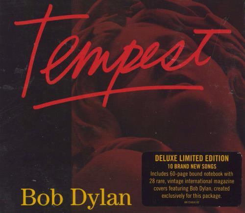 Bob Dylan Tempest CD album (CDLP) UK DYLCDTE744868