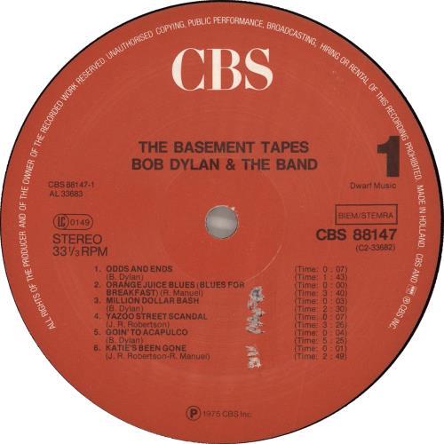 Bob Dylan The Basement Tapes 2-LP vinyl record set (Double Album) Dutch DYL2LTH719419