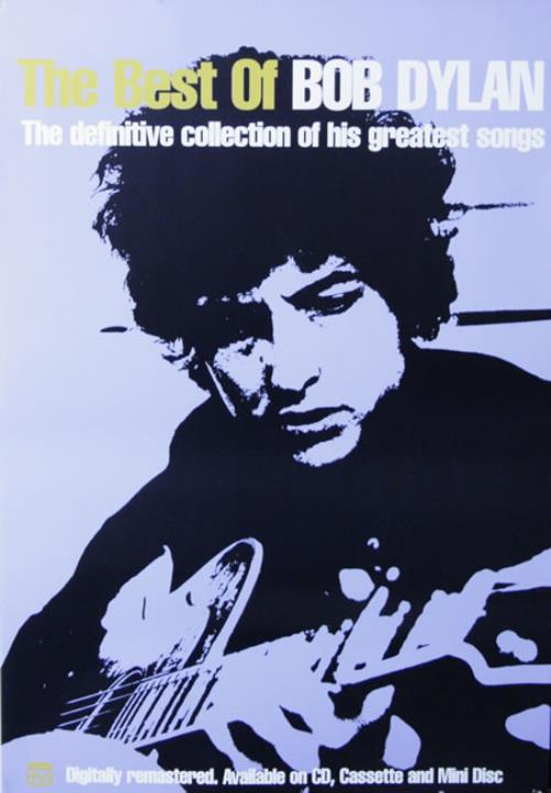 Bob Dylan The Best Of Bob Dylan poster UK DYLPOTH514092