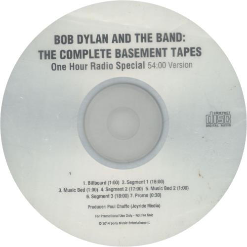 Bob Dylan The Complete Basement Tapes - One Hour Radio Special - 54 Version CD-R acetate US DYLCRTH664337