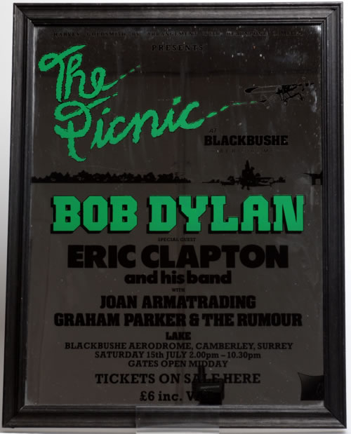 Bob Dylan The Picnic At Blackbushe Aerodrome memorabilia UK DYLMMTH595972