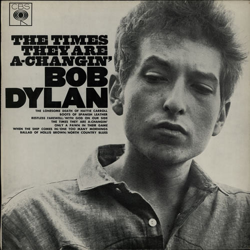 Bob Dylan The Times They Are A-Changin' - 1st vinyl LP album (LP record) Australian DYLLPTH581870
