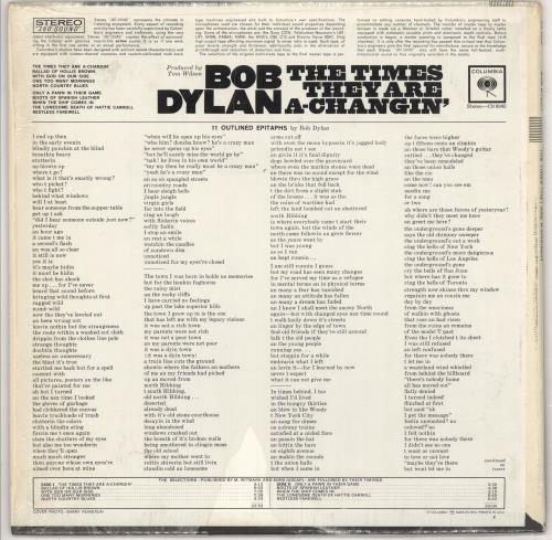 Bob Dylan The Times They Are A-Changin' - Sealed Vinyl - Two Eye label vinyl LP album (LP record) US DYLLPTH74796