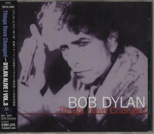"""Bob Dylan Things Have Changed CD single (CD5 / 5"""") Japanese DYLC5TH156966"""