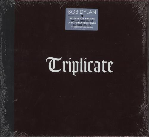 Bob Dylan Triplicate - Vintage Hardback Sleeve - Sealed 3-LP vinyl record set (Triple Album) US DYL3LTR735934