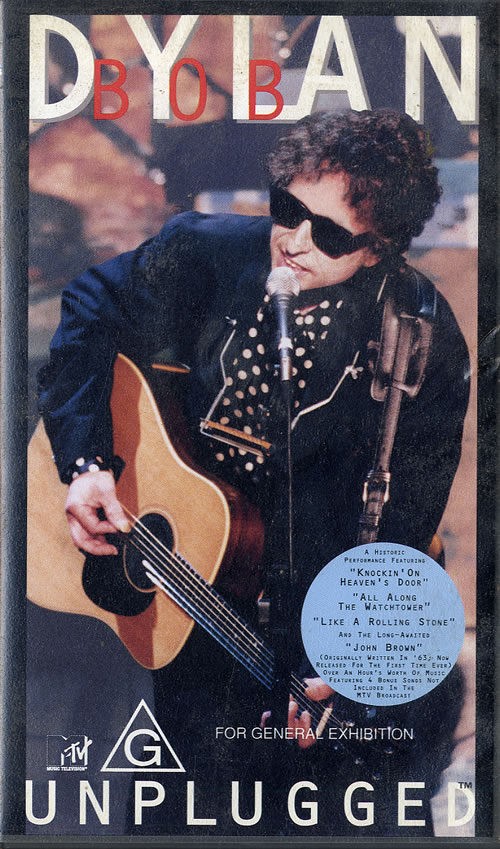 Bob Dylan Unplugged video (VHS or PAL or NTSC) Australian DYLVIUN559432