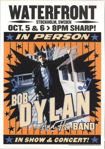 Bob Dylan Waterfront Stockholm 2015 October Lithograph poster UK DYLPOWA735535