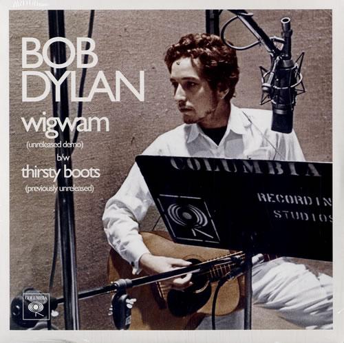 "Bob Dylan Wigwam 7"" vinyl single (7 inch record) UK DYL07WI583211"