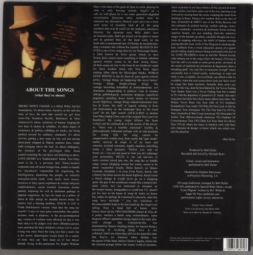 Bob Dylan World Gone Wrong vinyl LP album (LP record) Dutch DYLLPWO429484
