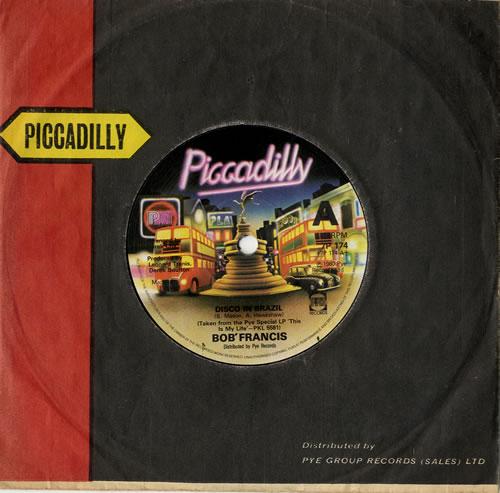 """Bob Francis Disco In Brazil 7"""" vinyl single (7 inch record) UK EQP07DI573085"""