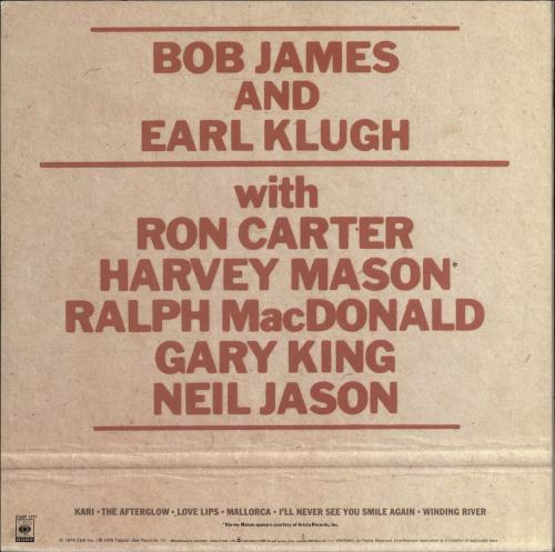 Bob James One On One vinyl LP album (LP record) Japanese BOJLPON722143