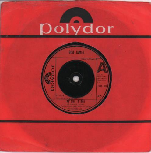 "Bob James We're All Alone 7"" vinyl single (7 inch record) UK BOJ07WE675771"
