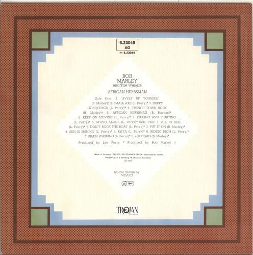 Bob Marley African Herbsman vinyl LP album (LP record) German BMLLPAF714411