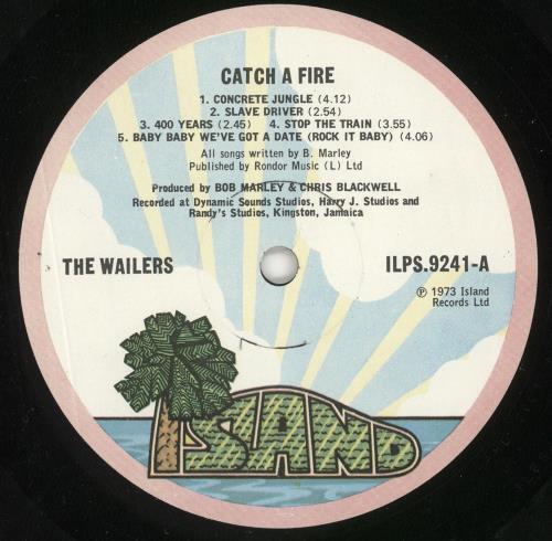 Bob Marley Catch A Fire - 1st - EX vinyl LP album (LP record) UK BMLLPCA316032