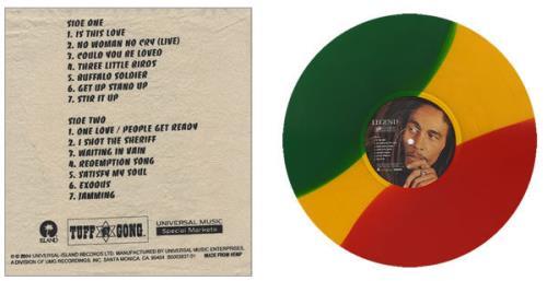 Bob Marley Legend: The Best Of vinyl LP album (LP record) US BMLLPLE552763