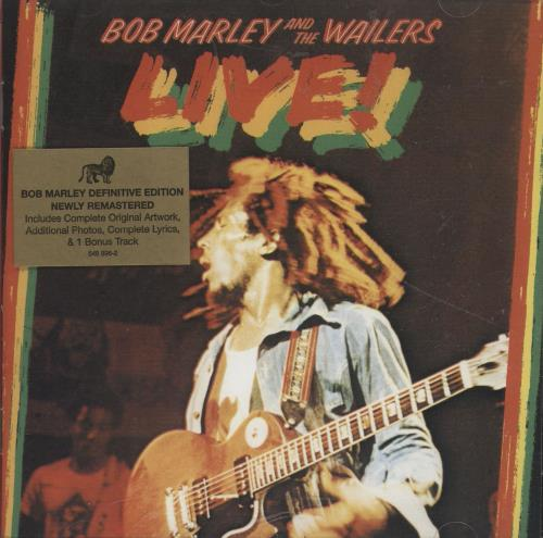 Bob Marley Live! - Remastered CD album (CDLP) UK BMLCDLI691372