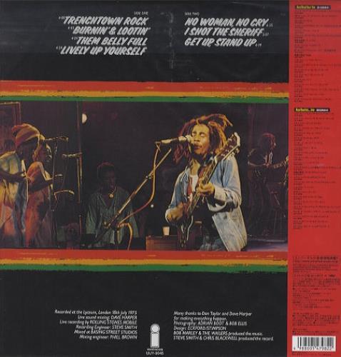 Bob Marley Live! vinyl LP album (LP record) Japanese BMLLPLI403021