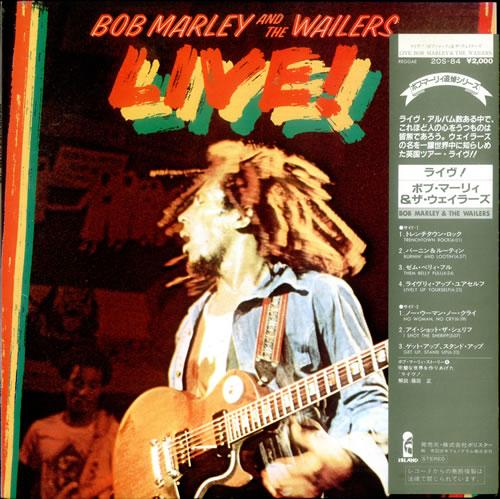 Bob Marley Live! vinyl LP album (LP record) Japanese BMLLPLI529242