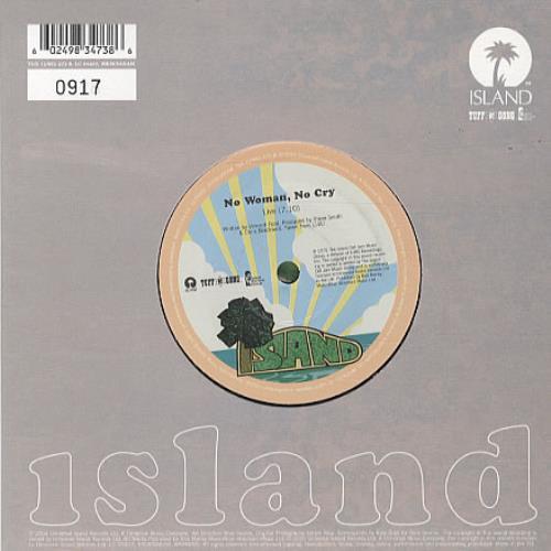 "Bob Marley No Woman No Cry - Live 7"" vinyl single (7 inch record) UK BML07NO341209"