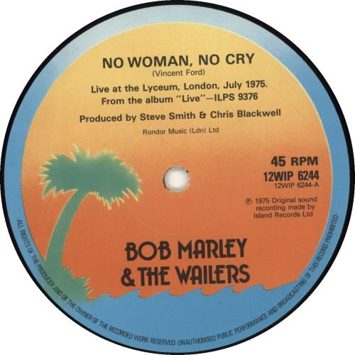 Bob Marley No Woman No Cry Uk 12 Vinyl Single 12 Inch Record