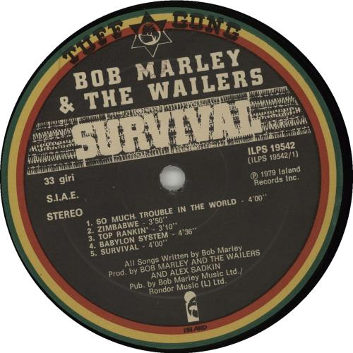 Bob Marley Survival vinyl LP album (LP record) Italian BMLLPSU480379