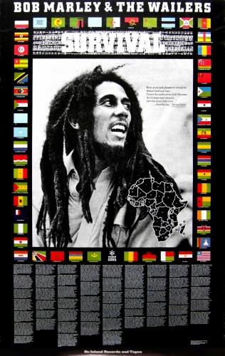 Bob Marley Survival poster UK BMLPOSU674274