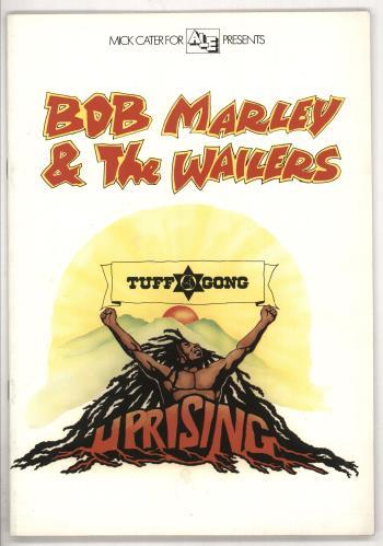 Bob Marley Uprising Tour tour programme UK BMLTRUP738642