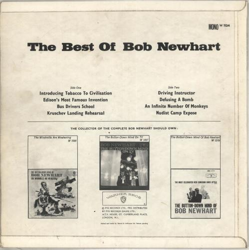 Bob Newhart The Best Of Bob Newhart vinyl LP album (LP record) UK NHTLPTH710527