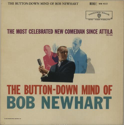 Bob Newhart The Button-Down Mind Of Bob Newhart - 1st vinyl LP album (LP record) UK NHTLPTH252153