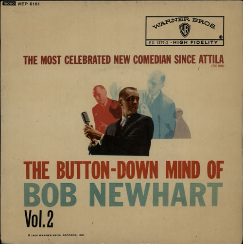 "Bob Newhart The Button-Down Mind Of Bob Newhart - Vol 2 7"" vinyl single (7 inch record) UK NHT07TH572450"