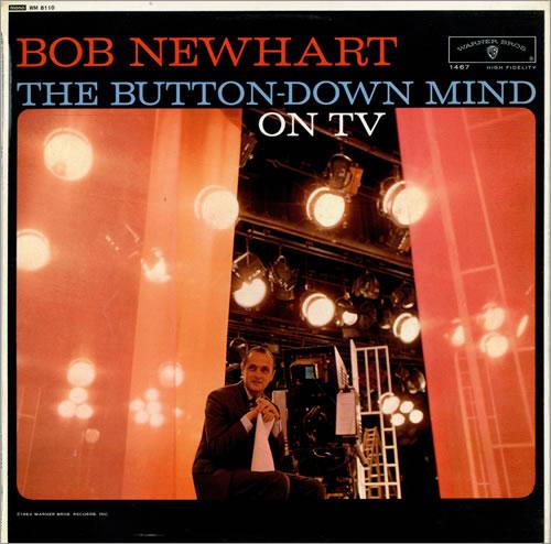 Bob Newhart The Button-Down Mind On TV vinyl LP album (LP record) UK NHTLPTH476082